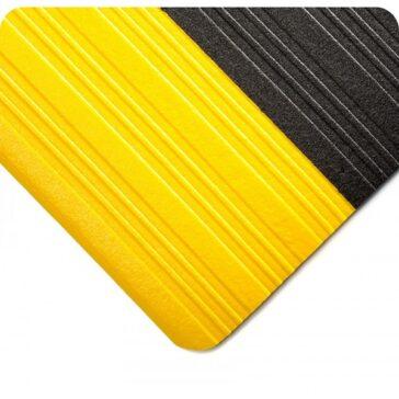 Deluxe Tuf Sponge Comfort Mat Black/Yellow Border