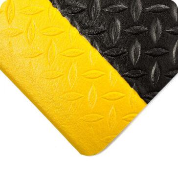 Diamond Plate Tuf Sponge Black Yellow Border