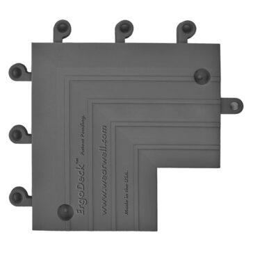 ErgoDeck Ramp Inside Corner Charcoal