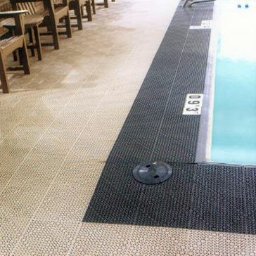 Channel Drainage Tile at Pool