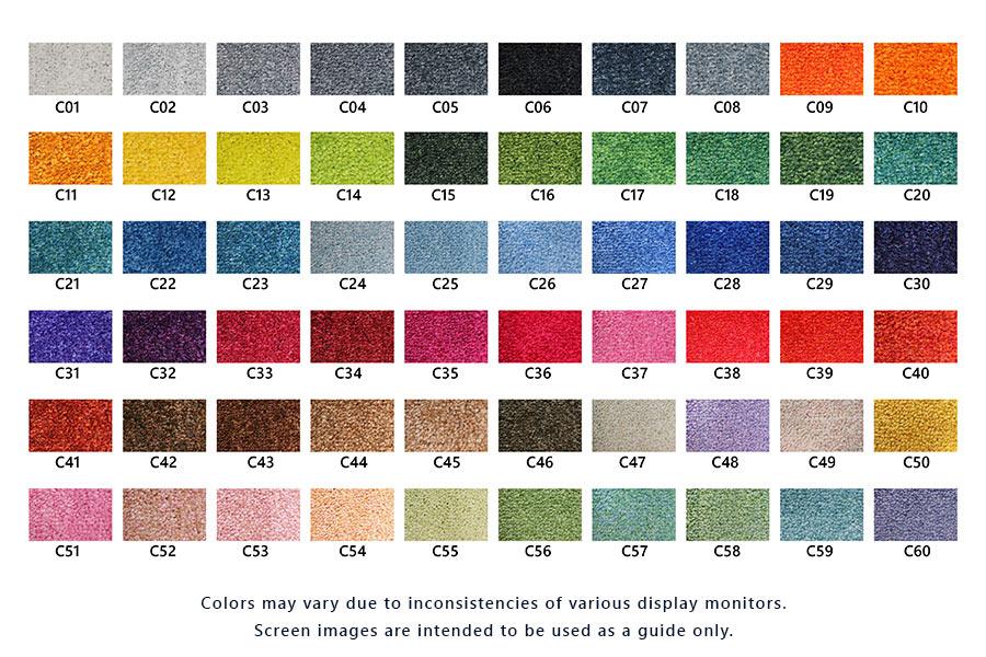 ColorStar Impressions Logo Mat - Color Chart