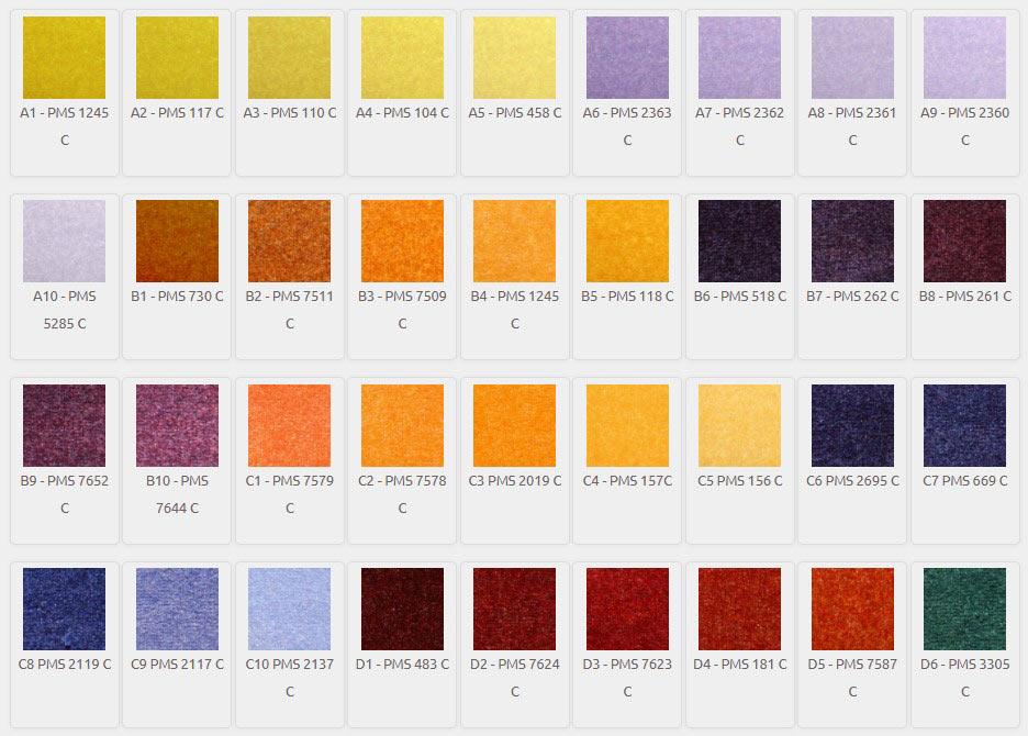 DigiPrint HD Color Palette A1-D6