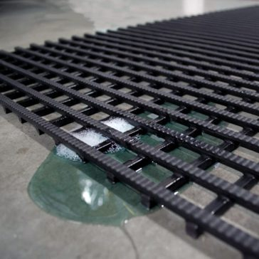 Elevate Oil Resistant drains oil and grease