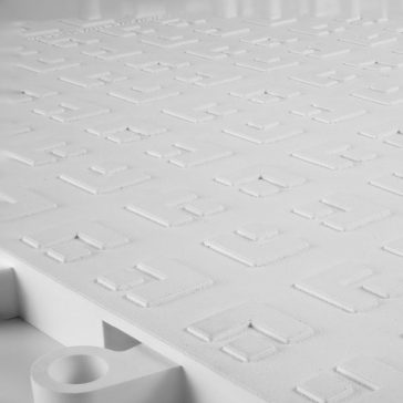 ErgoDeck GP Solid White Tile