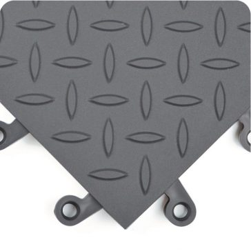 ErgoDeck Diamond Plate General Purpose Solid Charcoal