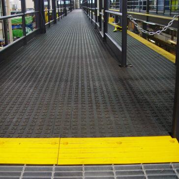 ErgoDeck Flooring General Purpose Solid tile on a catwalk