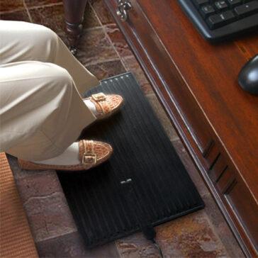 Comfy Foot Warmer keeps feet and toes warm under desks