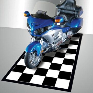 G-Floor Checkerboard Motorcycle Mat
