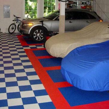 Locktile interlock flooring for garage floors