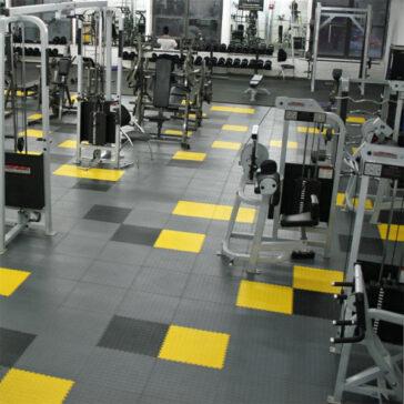 Locktile interlock flooring for gyms
