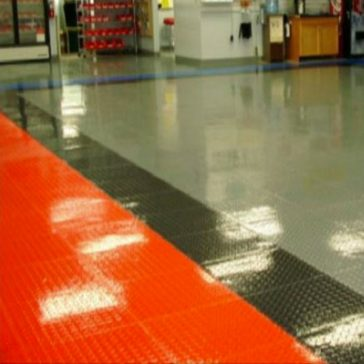 Locktile interlock flooring showroom floors