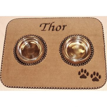 Pet Place Mat with Paw Print