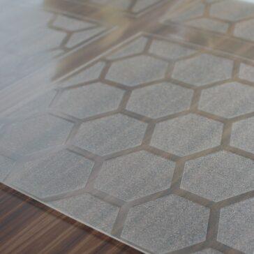 Designer Floor Protector - Prism Design for Hard Floors