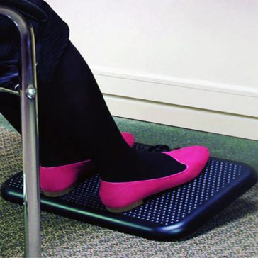 Comfy Toasty Toes Heated Footrest keeps feet toasty warm