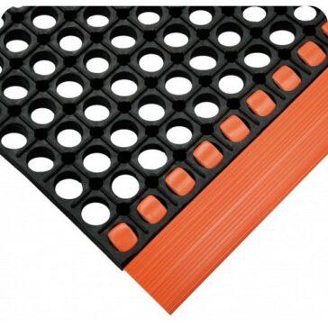 WorkSafe Drainage Mat Orange Border