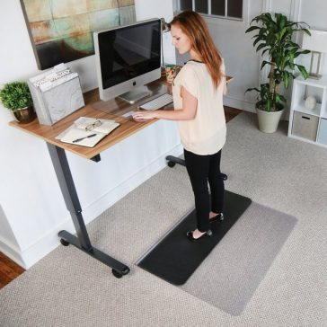 Sit or Stand Chair Mat Woman Standing